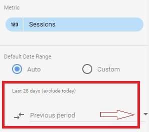 Google Data Studio - Add Comparison Metric