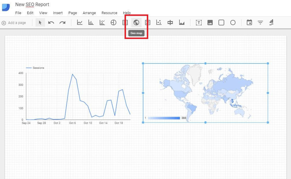 Google Data Studio - Add Geo Map