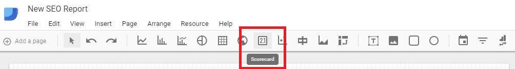 Google Data Studio - Add Scorecard