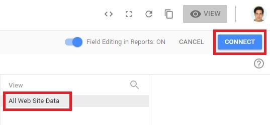Google Data Studio Connect GA Data
