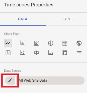 Google Data Studio - Edit Data Source