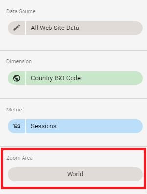 Google Data Studio - Map Zoom Area