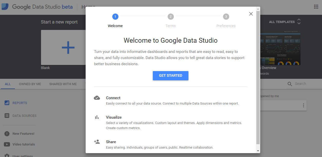 Google Data Studio Set-up