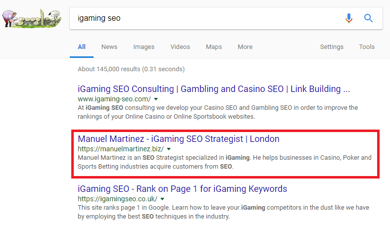iGaming SEO ranks